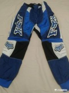 BOYS FOX MOTO PANTS-BLUE & WHITE