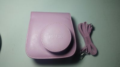 Instax mini pink camera case. New. With strap