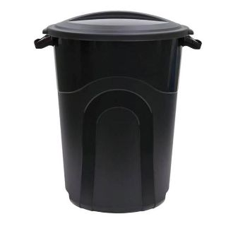 2 of 32 gallon United Solutions Injection Molded Trash Can