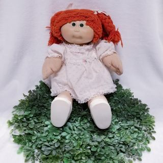 Vintage Cabbage Patch Kid Doll Red Hair/ Green Hair