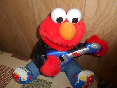 1998 TYCO The Jim Henson company Mattel Inc Rock n Roll Elmo Muppets! Sings and plays