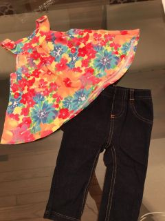 Flower shirt and jeggings
