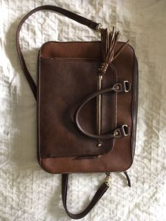 Brown and Gold Laptop Bag
