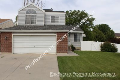 Spacious 3 Bed, 1.5 Bath West Jordan Home