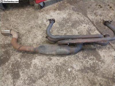 Side exhaust Header & Muffler