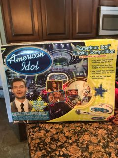 American idol singing competition game with interactive DVD experience! Brand new, sealed and never been opened game