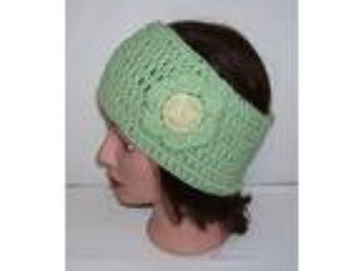 "Handmade Crochet Ear Warmer/Headband 4"" wideX20"" around -HTF"
