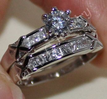 Engagement and wedding rings - size 7