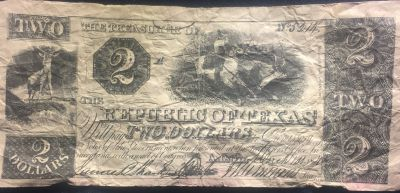 Republic of Texas Two Dollars
