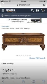 Ethan Allen coffee table Best reasonable offer