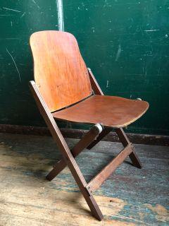 Mid Century Modern Walnut Folding Chair