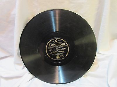 "antique columbia 1848 first vintage 78 rpm record etched album 10"" double sided"