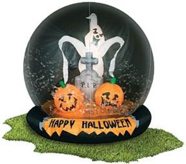 HALLOWEEN INFLATABLE GLOBE FOR YARD