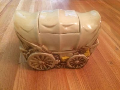 Antique McCoy Covered wagon cookie jar