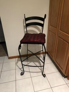 Pier One Wrought iron bar chairs