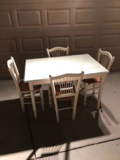 Small Solid Wood 5 Piece Dining Set