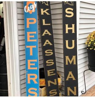 Front Porch Wood signs. Rustic and Personalized