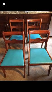 4 kitchen dining room chairs real wood vintage antique