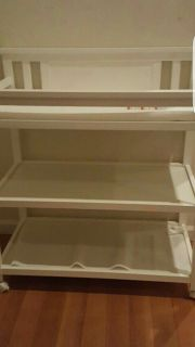 White 3 Level Changing Table