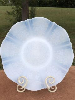 Vintage Opalescent White Depression Glass Plate