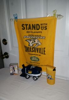Preditors Smashville. Towel. Can wrap, Truck 8 in long and 74 Upper Deck Gold Standard Hockey Cards. All $7