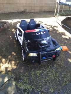 2 seat police power wheels xposted