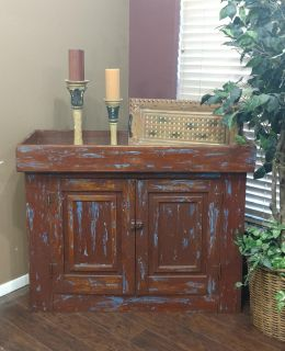 PRETTY UNIQUE RUSTIC CABINET with SHELVING INSIDE!! COULD BE USED AS A CHANGING TABLE! ENDLESS IDEAS!!!