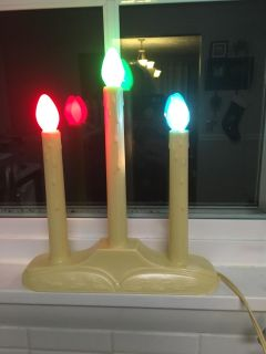 1970s Vintage Electric Window Candles