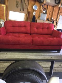 Very cozy red sofa in great shape!