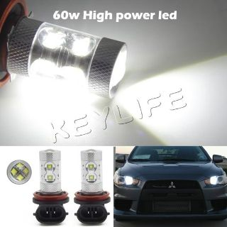 Find 2pcs 60W H8 H11 Cree R5 Car Vehicle LED Day Driving Fog Light Bulb Lamp White motorcycle in Cupertino, CA, US, for US $144.89