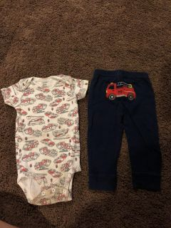 12 month onesie and pants set