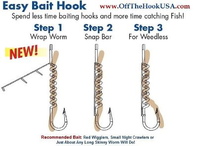 $5, New Live Bait Fishing Hooks for WORMS