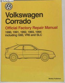Official Factory Repair Manual for VW Corrado