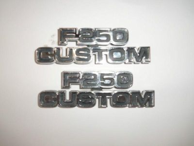 Buy 77-79 Ford truck F250 Custom side cowling emblems motorcycle in Tipp City, Ohio, US, for US $25.00