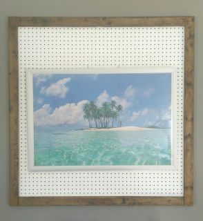 Large Brushed Nickel frame with tropical island picture