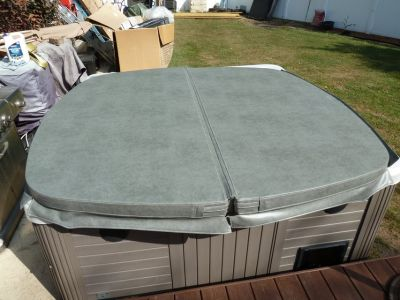 New Hot Springs 86x83 Grey Spa Hot Tub Cover