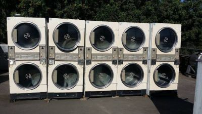 Fair Condition Speed Queen Stack Dryer 30LB Almond finish