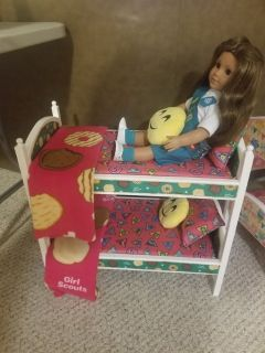 GIRL SCOUT BUNKBED FITS AMERICAN GIRL DOLLS