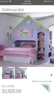 Doll house bed sets full or twin mattress