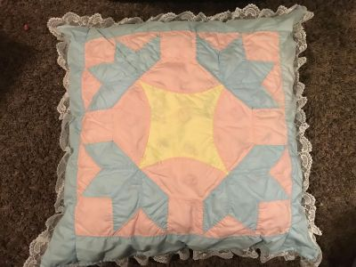 Set of 2 Handmade quilted throw pillows