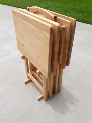 Fold up wooden tv trays
