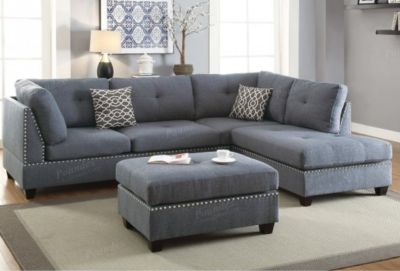 3pc SECTIONAL AND OTTOMAN SET FREE DELIVERY