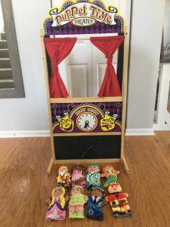 Melissa and Doug Puppet Theater & Puppets