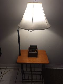Lamp table with storage...pick up in Riverside..xpost