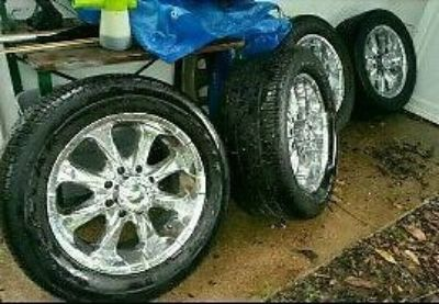 Purchase 8 lug Chevy GMC wheels / tires motorcycle in Feasterville-Trevose, Pennsylvania, United States, for US $1,500.00