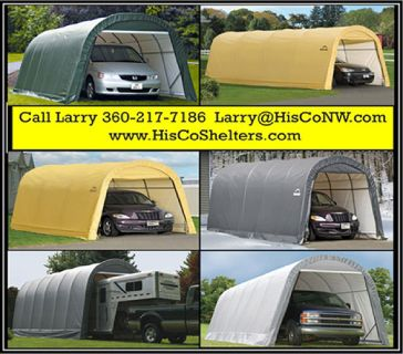 Weather-Shield Portable Garage Shelter Round Roof Style
