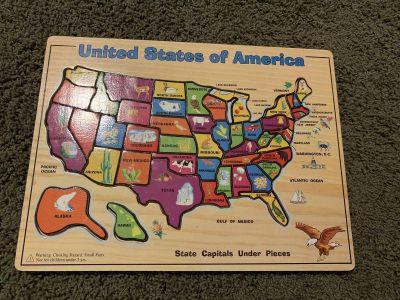 Wooden Map Puzzle