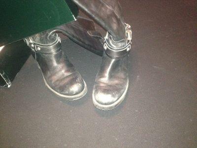 "Ralph Lauren ""Oriana"" leather womans boots."