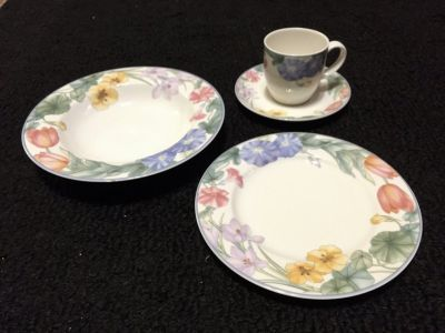 Optima by Mikasa - Super strong fine China (Spring Legacy design)