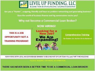 Commercial Loan Brokers Wanted- Will Train